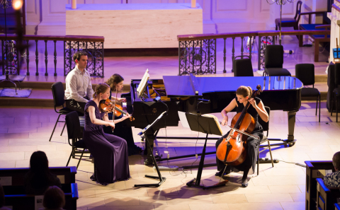Albany Piano Trio performing at St Martin-in-the-Fields