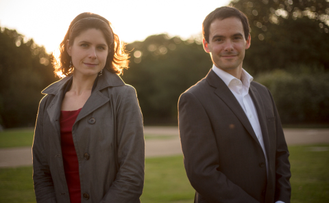Pippa Harrison and James Willshire in Hyde Park