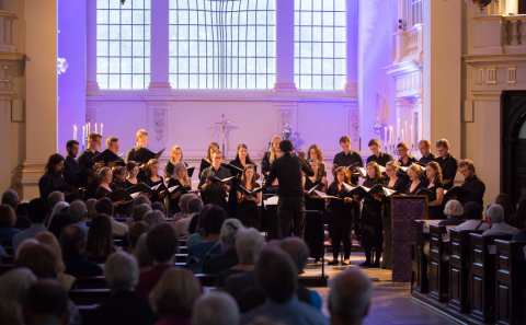 Choir of St Martin-in-the-Fields performing in St Martin-in-the-Fields