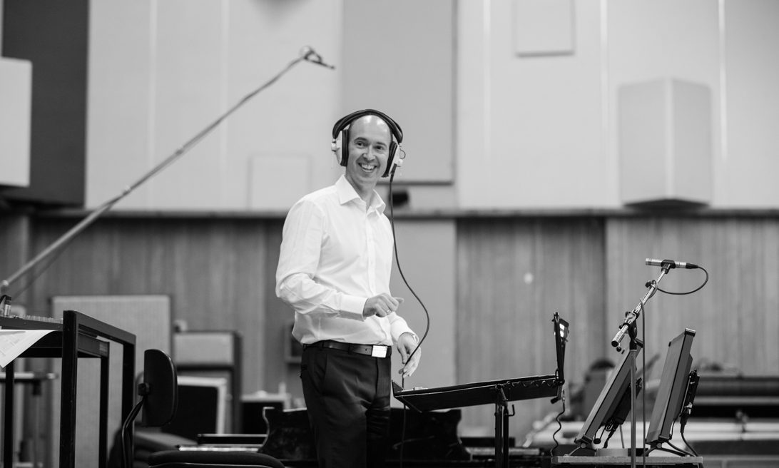 Choral conductor Mark Ford at Abbey Road Studios